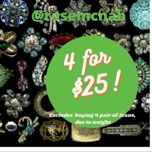 4 for $25 MIX AND MATCH
